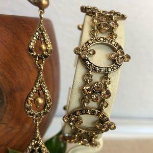 Vintage Napier Bracelet and Earrings